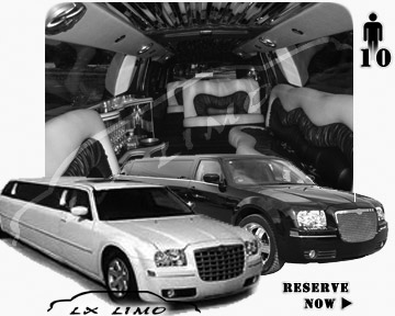 Chrysler 300 Limo for wedding in Wichita