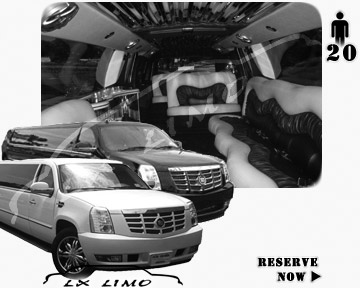 Cadillac Escalade 20 passenger SUV Limousine for rental in Wichita, KS