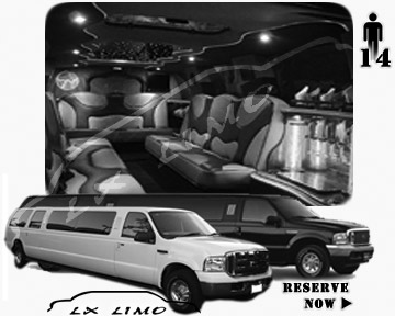 Lincoln Excursion SUV Limo for hire in Wichita, KS
